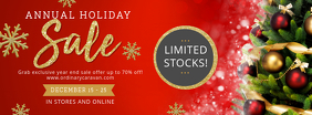 Regal Christmas Sale Banner Facebook-coverfoto template