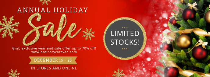 Regal Christmas Sale Banner Foto Sampul Facebook template