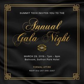 Regal Dinner Party Invitation Design Square (1:1) template