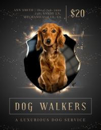 Regal Dog Walking Business Advertisement Flyer