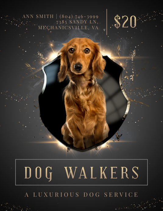 Regal Dog Walking Business Advertisement Flyer