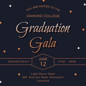 Regal Graduation Dinner Party Invitation
