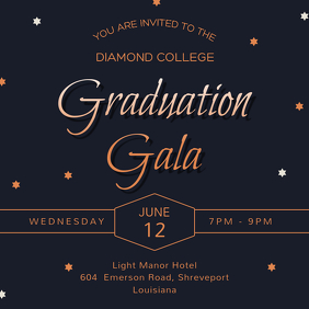 Regal Graduation Dinner Party Invitation