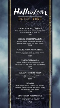 Regal Halloween Menu Board Template