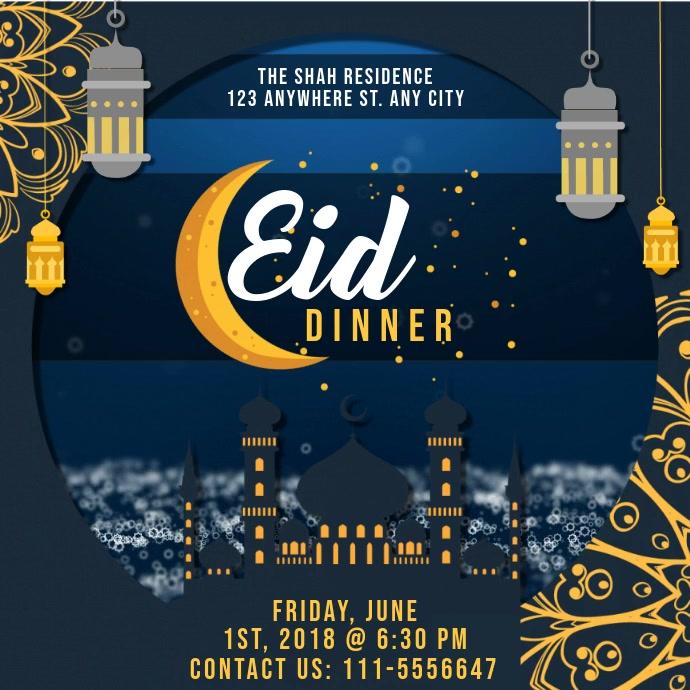 Regal Iftar Dinner Invitation Design