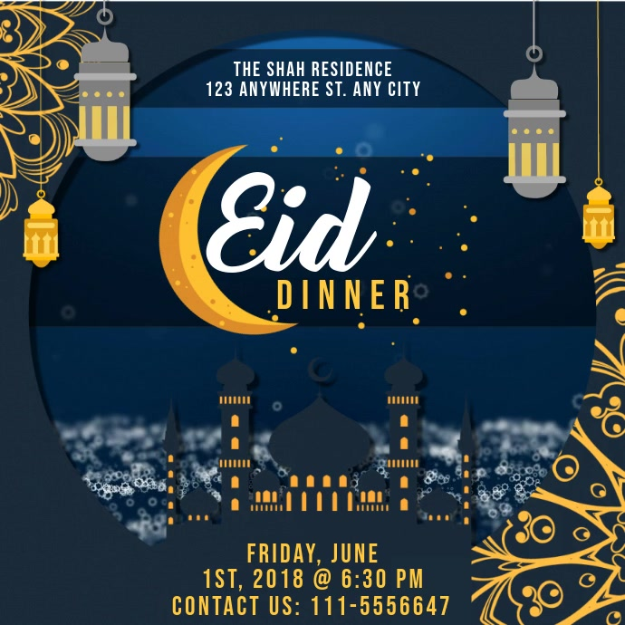 Regal Iftar Dinner Invitation Design Instagram na Post template