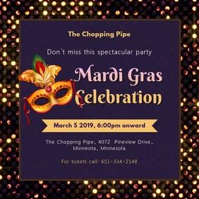 Regal Mardi Gras Party Invitation