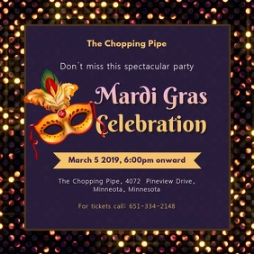 Regal Mardi Gras Party Invitation