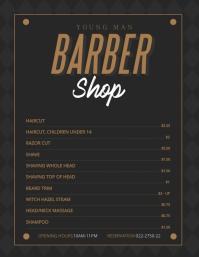 Regal Menu0027s Barber Shop Price List Template