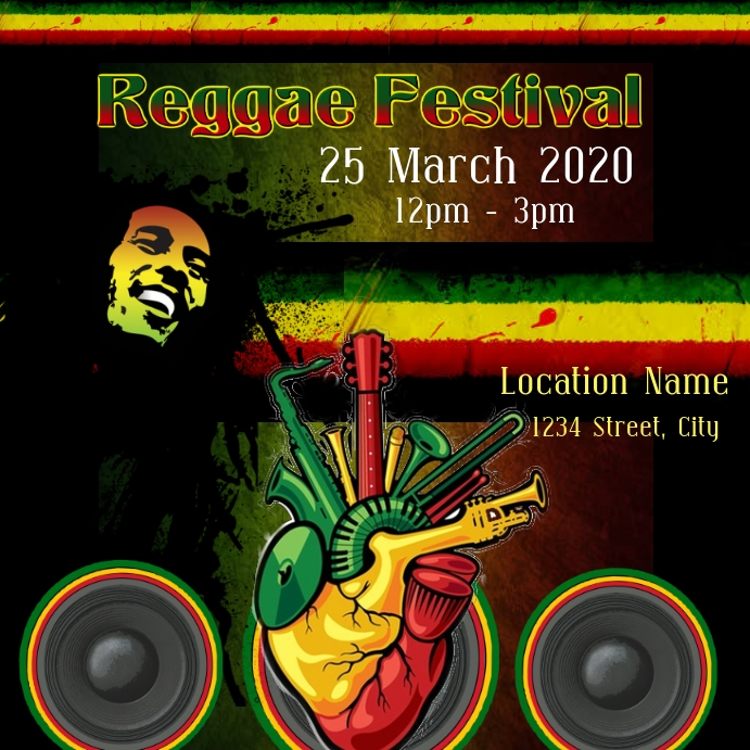 Reggae Template Postermywall