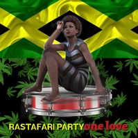 Reggae/Jamaica/concert/beach party/one love Message Instagram template