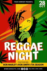 Reggae Night Poster template