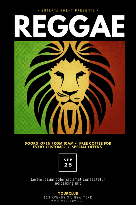 Reggae Party Flyer Template