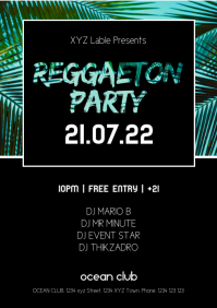 Reggaeton Latin Salsa Beach Caliente Party Ad