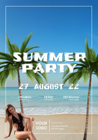 Reggaeton Latin Salsa Beach Palms Party ad