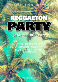 Reggaeton Latin Salsa Caliente Beach Party ad