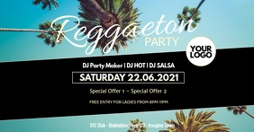 Reggaeton Latin Salsa Caliente Event Party ad template