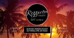Reggaeton Latin Salsa Caliente Party Cover ad template