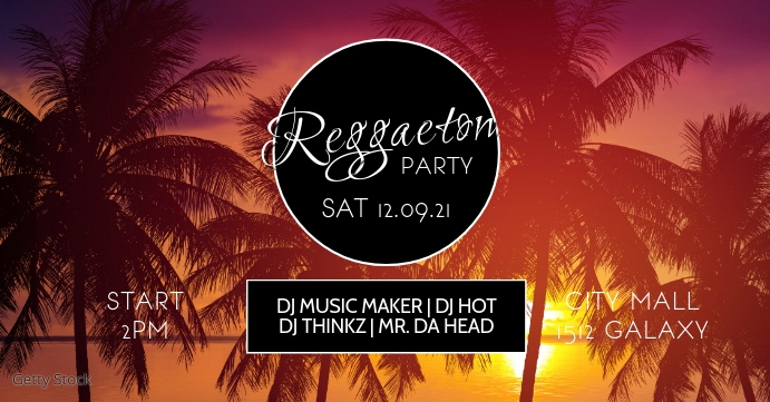 Reggaeton Latin Salsa Caliente Party Cover ad