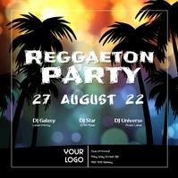 Reggaeton Latin Salsa Caliente Urban Party ad
