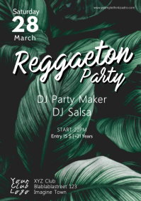 Reggaeton Latin Salsa Urban Caliente Party ad