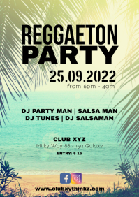 Reggaeton Party Caliente Beach Event Club Bar