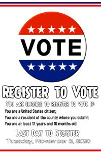 Register to go vote Poster template