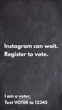 Register to vote Instagram Story template