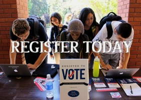 register to vote presidential election 2020 Cartolina template