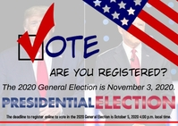 Register to vote presidential election