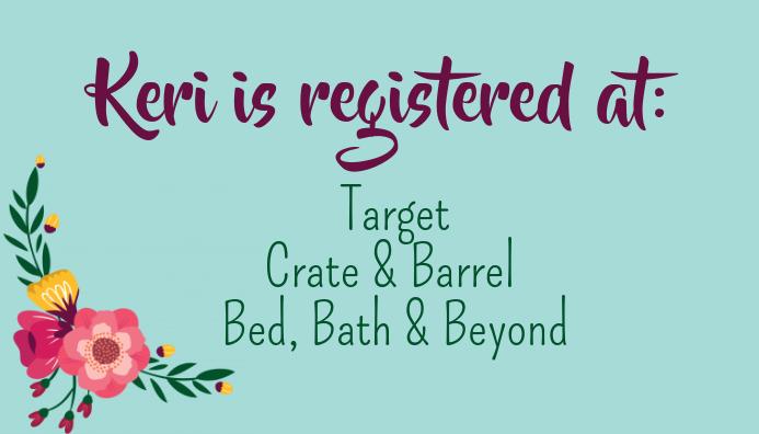 Registry Card for Invitation