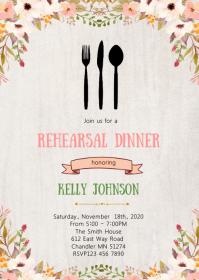 Rehearsal dinner party invitation