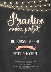 Rehearsal dinner theme invitation