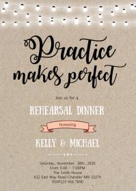 Rehearsal dinner theme invitation