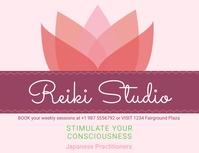 Reiki for emotional healing advertisement ban Folder (US Letter) template