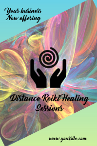 Reiki Healing Ad Tumblr Graphic template