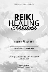 Reiki Healing Sessions Flyer Design Template