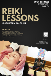 Reiki LEssons flyer design template
