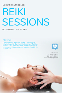 Reiki Sessions Lessons Flyer Design Template