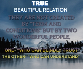 RELATIONSHIP AND BEAUTIFULL QUOTE TEMPLATE. Large Rectangle