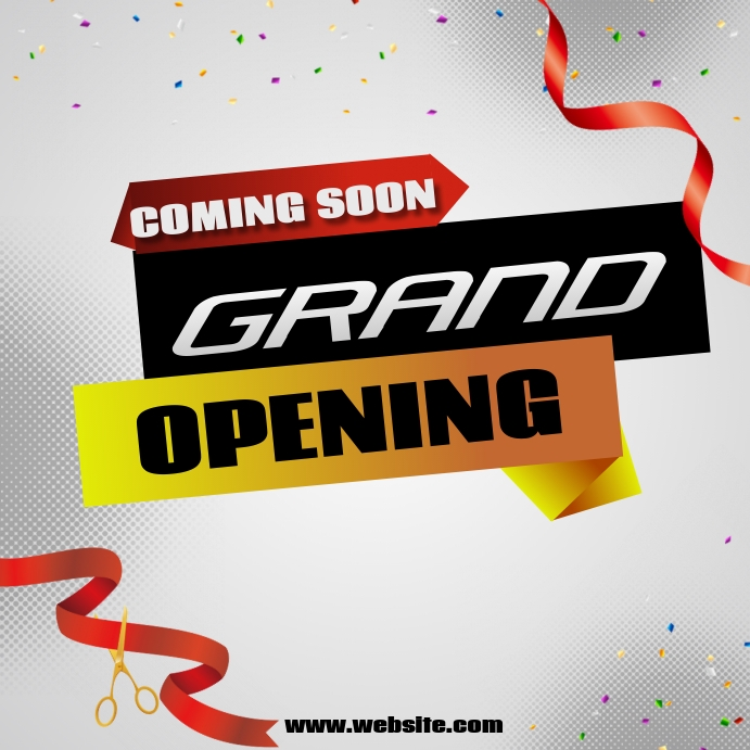 Relaunch ,Grand openings Vierkant (1:1) template