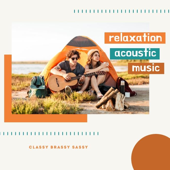 Relaxation Acoustic Music Template Capa de álbum