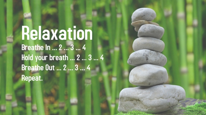 Relaxation breathing poster Présentation (16:9) template