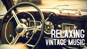 relaxing vintage radio music youtube thumbnai template