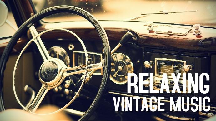 relaxing vintage radio music youtube thumbnai YouTube-miniature template