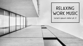 relaxing work music black and white