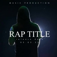 Release Date Album Cover Rap Capa de álbum template