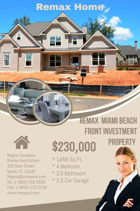 Remax Real Estate 海报 template