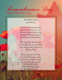 Remembrance Day 2020 Flyer (US Letter) template