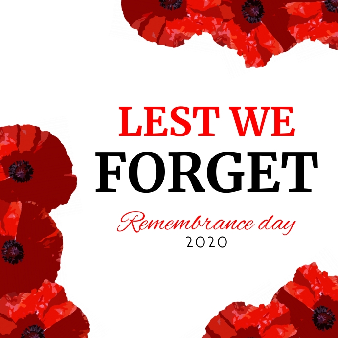 remembrance day 2020 instagram post template